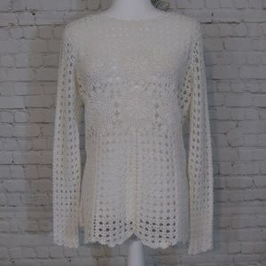 Free People crocheted boho style sweater